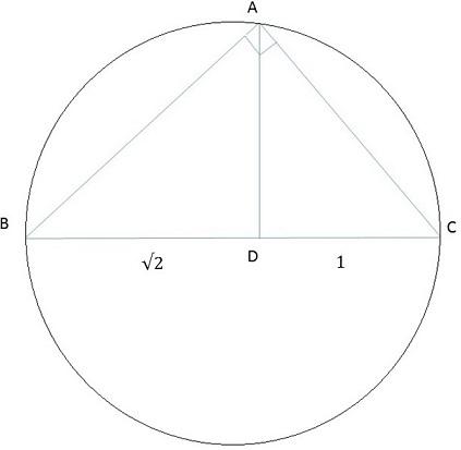دایره و مثلث قائم الزاویه